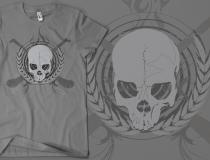 Skull & Crossed Hurleys - Grey on American Apparel Grey